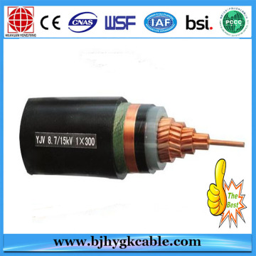 Medium Voltage Copper/Aluminum Conductor XLPE/PVC insulated Power cable 240 sq mm