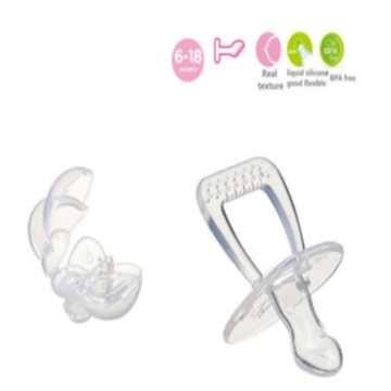 Safe Flat Head Nipple Infant Silicone Soother
