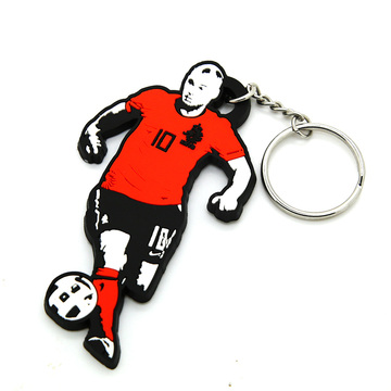 2018 hot new products silicone pvc keychain