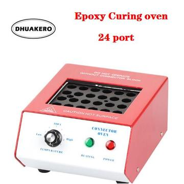free shipping AB251 24 Port Fiber Optic Curing Oven Epoxy Curing Equipment Heat Oven Polishing Oven