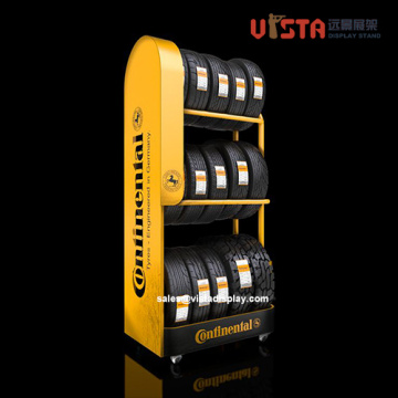 Heavy Duty Car Tyre Parts Metal Display Stand
