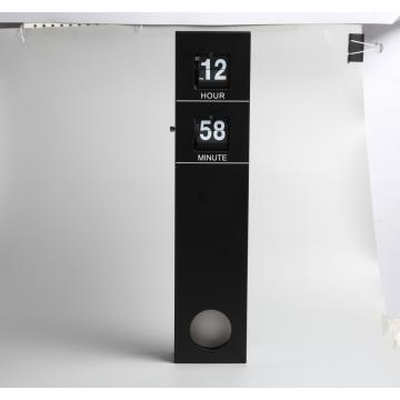 Cuboid Metal Pendulum Flip Clock For Time function