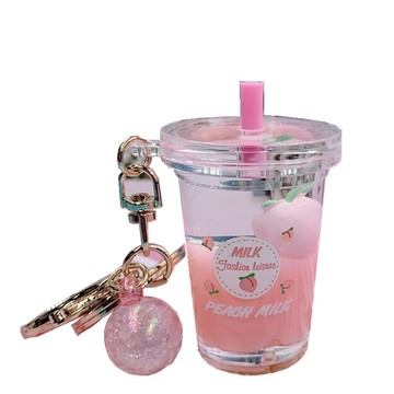 Bubble Milk Tea Keychain Custom