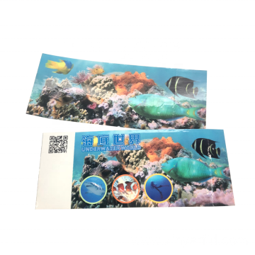 Custom Printing RFID Ticket For Underwater World Park