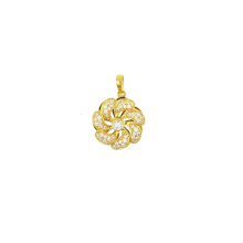 Flower Charm Rotating Pendant