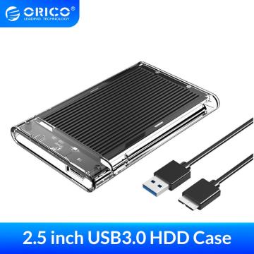 ORICO HDD Enclosure SATA to USB3.0 HDD Case Tool Free for 7/9.5mm 2.5 inch Sata SSD 4TB Type-C Hard Disk Box External HDD Case
