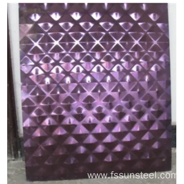 Stainless Steel Stamping Decorative Sheet 201 304