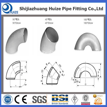 45 elbow stainless steel elbow pipe