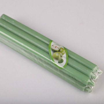 Green taper candles coloured taper candles
