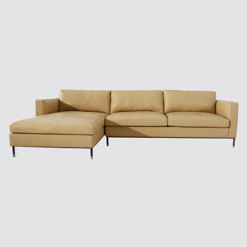 Italian Brown Aniline Leather Larson Sofa