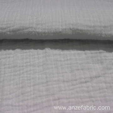 Exported good quality white color double gauze fabric