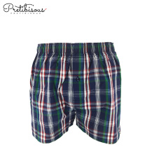 Design your own woven cotton mens boxer shorts