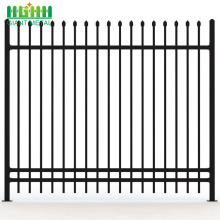 Tubular Wrought Iron Steel Prefab Picket Fence Panels