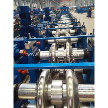 Automatic highway guardrail manufacturing machines