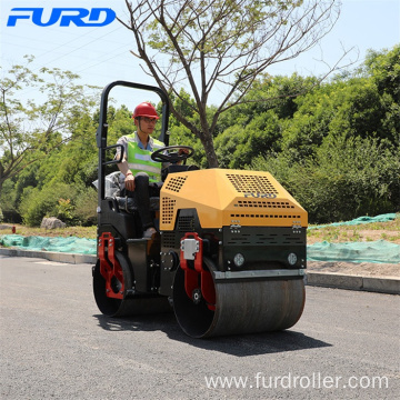 Fully Hydraulic 1 Ton Vibratory Equipment Roller With Gasoline Engine