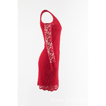 Red lace skirt with sleeveless