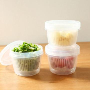 Drain Sealed Box For Ginger Garlic Onion Fridge Crisper Debris Fridge Storage Boxes Drawer Kitchen Organizer