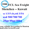 Shenzhen Sea Freight shipping Services to Kuwait