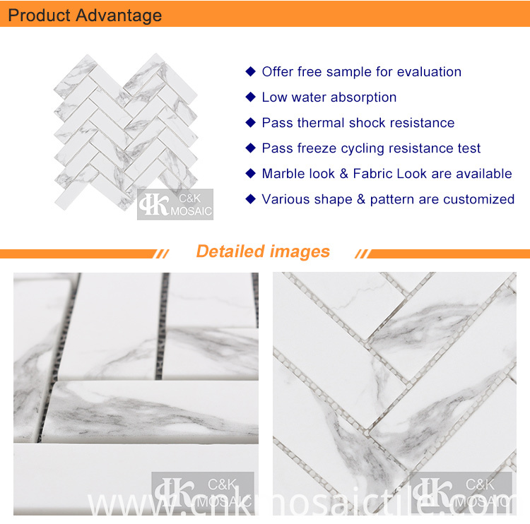 Marble and Glass Mosaic Tile