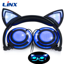 Good quality foldable glowing cat ear headphone