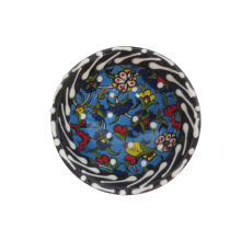 Hand Made Tile Patterned Kaolin Clay Quartz Limestone Bowl 8cm Blue Colored Turkish Pattern Healty Gift