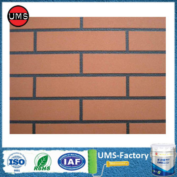 Exterior brick red textured masonry paint