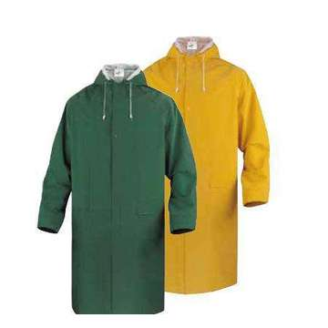 pvc polyester adult yellow plastic raincoat