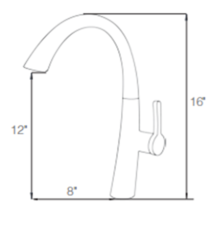 Single Handle Pull Down Faucet