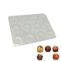 Vacuum formed truffle inner blister tray with lid