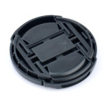 Camera lens cap Snap-on front 58mm len cap cover straps for canon eos EF 18-55-250 Black center pinch Snap-on cap cover