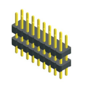 2.00mm Pitch Dual Row Double Plastic Straight Pin