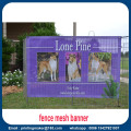 Commercial Grade Custom Printed Fence Screen Mesh Banner