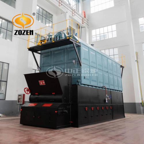 8tph Wood Pellet Fired Travelling Grate Steam Boiler