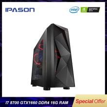 6-Сore Intel Gaming PC IPASON P7 Power 8th Gen i7 9700 DDR4 8G/16G RAM/GTX1660 6G/1T+120G Barebone Windows10 Desktop Computer
