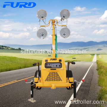7 M Mobile Led Tower Light with Diesel Generator