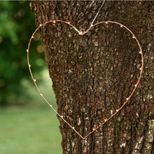 Custom love shape Copper Wire Metal motif light