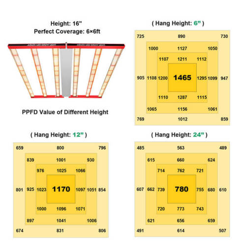 Large LED Grow Light Samsung LM301B for Greenhouse