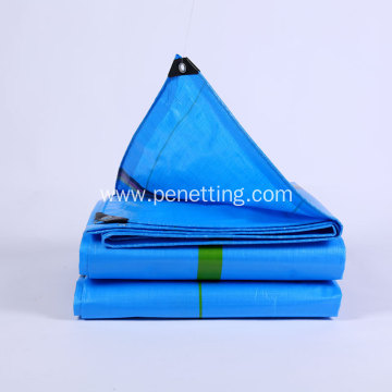 Reinforced blue-green PE Tarpaulin with rust-proof grommets