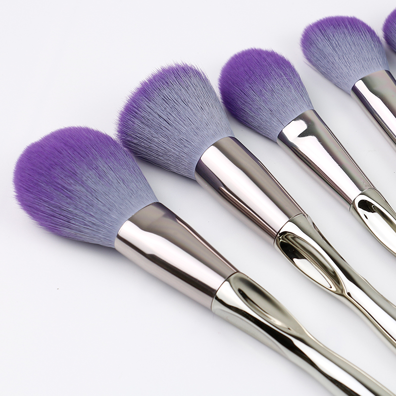 9 Pcs Aluminum Makeup Brush