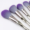 9 Pcs  Aluminum Handle Makeup Brush Set