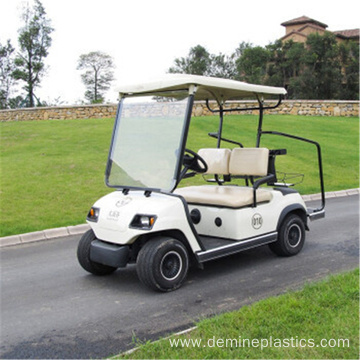 Golf cart plastic front windshield panel polycarbonate