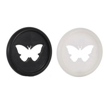 20pcs 26mm Butterfly Notebook Plastic Binding Ring Mushroom Hole Disc 360 Degree T3LB
