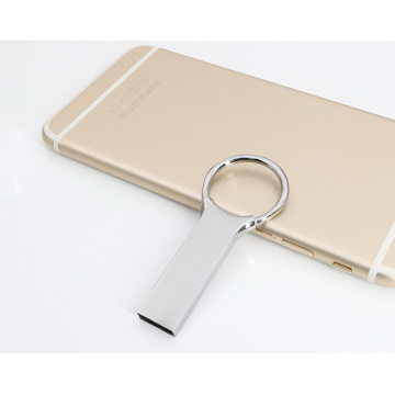 Mini Metal USB Flash Drive With Keychain