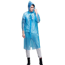 Disposable raincoat with buttons for travelling