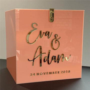 Personalized Acrylic Wedding Card Box