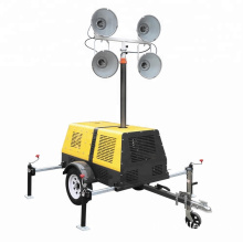 Work Performance Height Adjustable 1000WX4 Trailer Mounted Light Tower FZMT-1000B