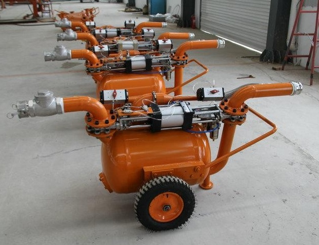 Dredging sand and mud pump pneumatic equipment (12)