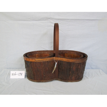 Natural Wood Bark Basket