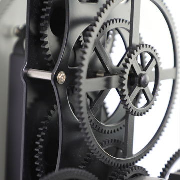 Huge Black Gear Wall Clock