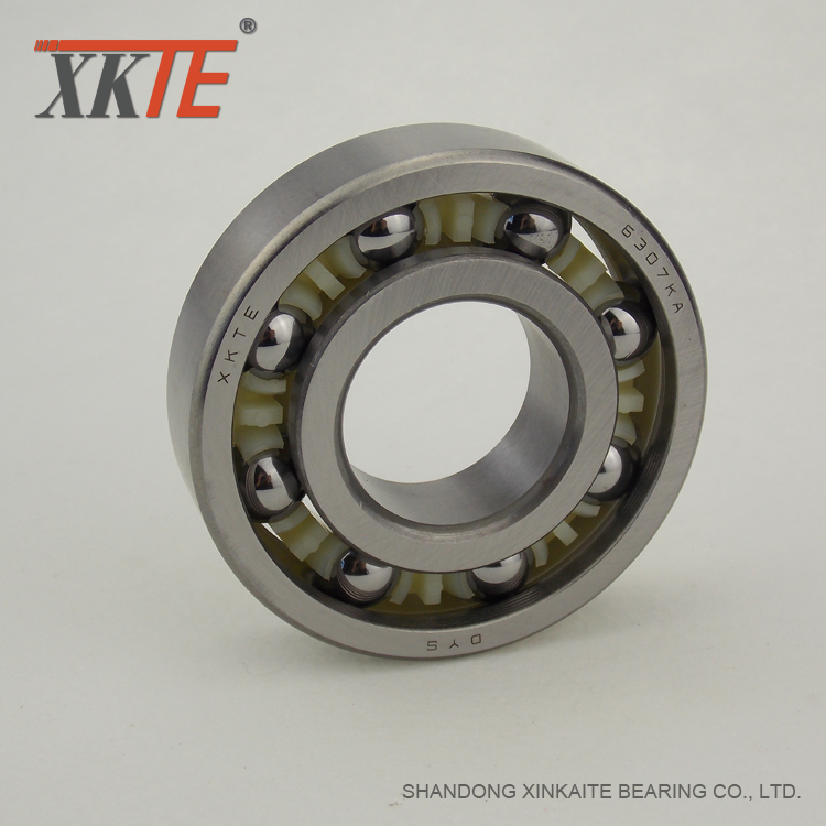 PA 66 Cage Bearing For Mining Conveyor Idler Roller